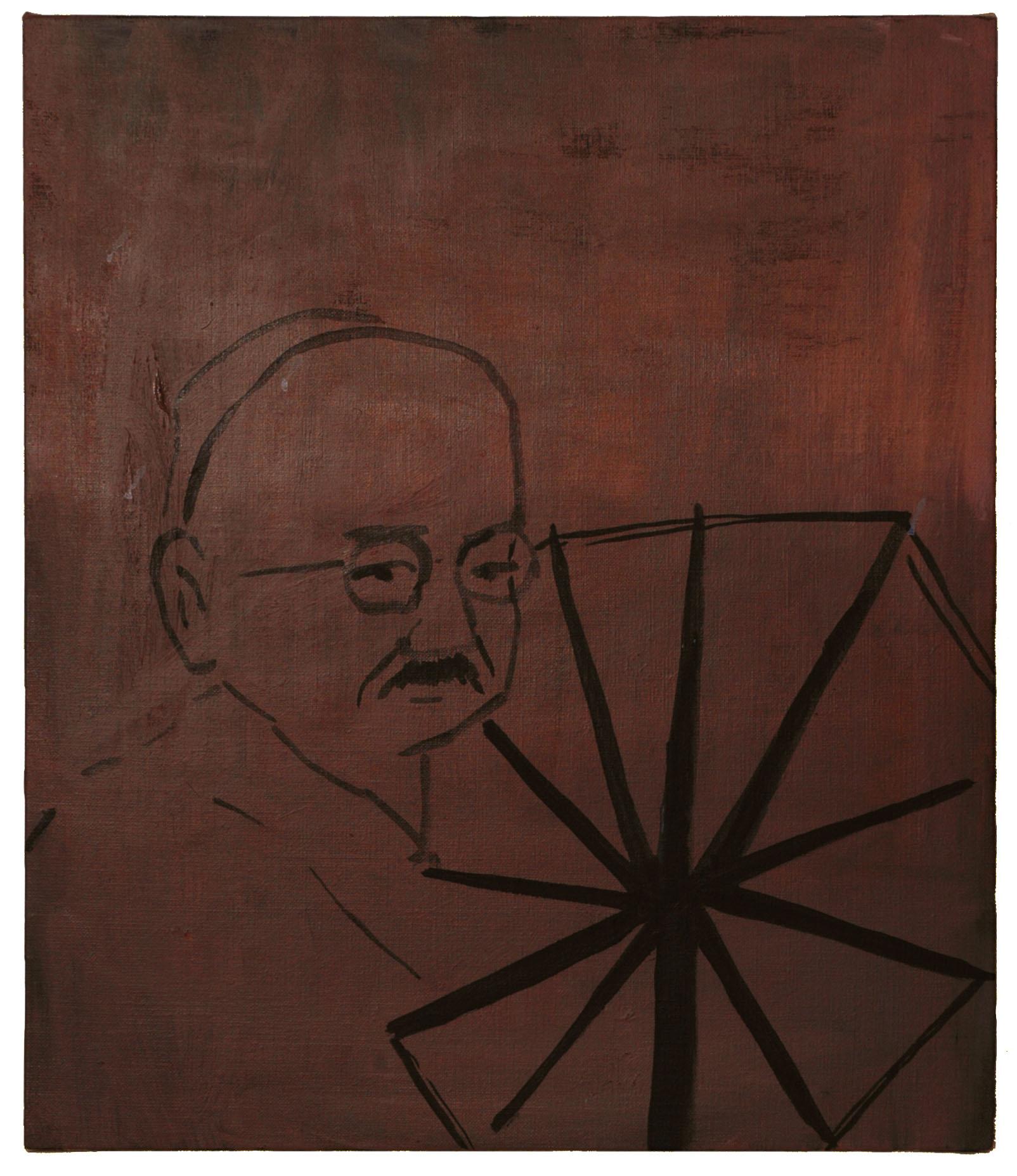 Gandhi oil on canvas 2011