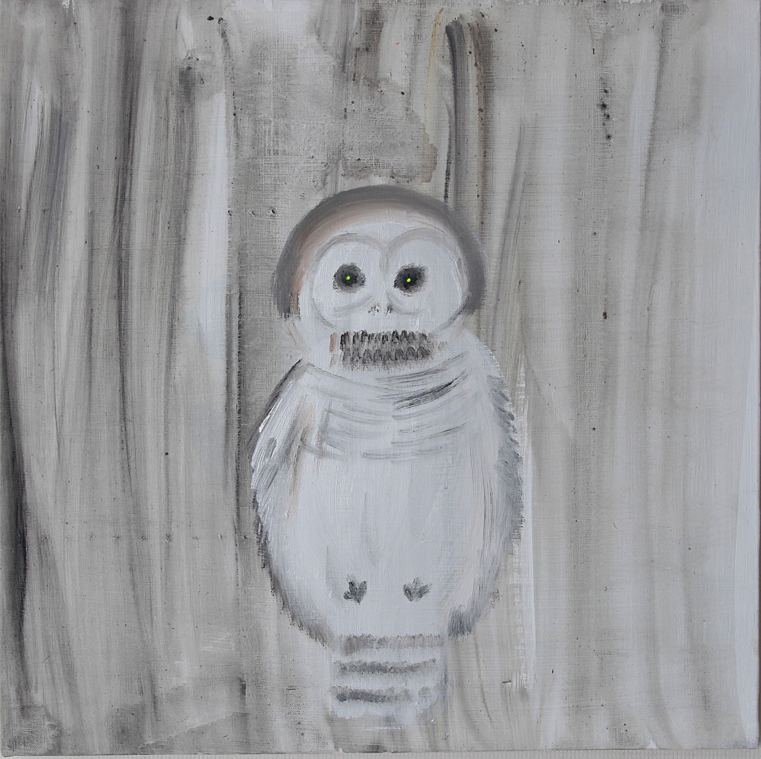 White owl  2012   oil on canvas