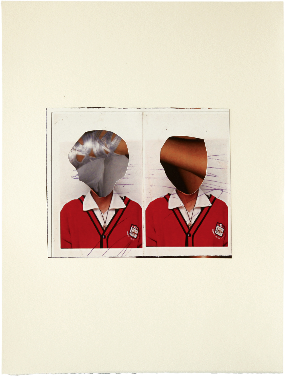 Untitled 2011 collage on pape 243mm x 320mm