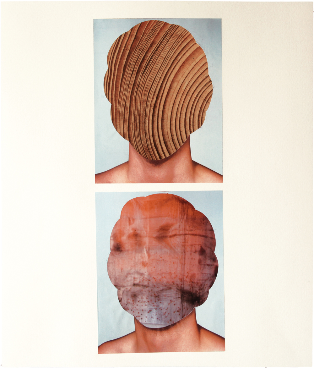 Untiteled 2011 collage on paper  W430mm x H530mm